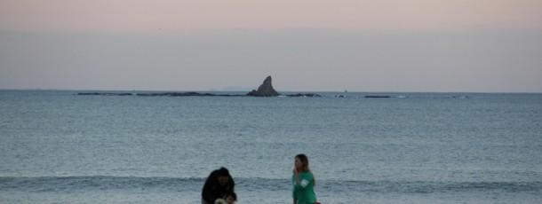 遠くにえぼし岩