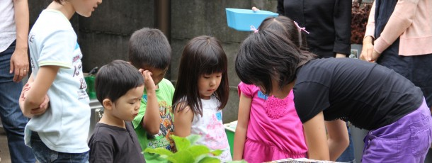 子供達は焼きデザートづくりに集中